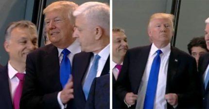 川普發現自己不是站在最前,「暴力推開前面元首」!JK羅琳罵:「小男人!」(影片)