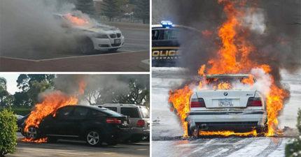 全世界很多停路邊BMW開始學Note 7「驚悚起火自燃」,BMW回應了!