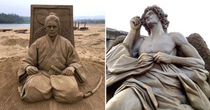 23件在台灣沙灘上才能看到的大師級「絕世沙雕作品」。
