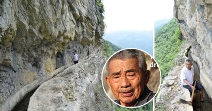 82歲翁花36年「絕壁開7.2公里天渠」 現在完美景觀根本是世界遺產!