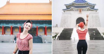 全球知名網紅「復古美人」出現在台灣!IG打卡洩漏行蹤,大讚:「台灣美到讓人震驚!」