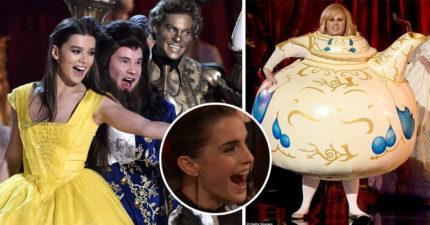 《歌喉讚》卡司神複製《美女與野獸》踢館頒獎現場!「胖艾美一出場」連艾瑪華森都瘋狂了!