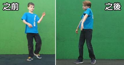 9歲小男生花2年700個小時練習跳舞,「之前之後影片」證明你太小看自己了!