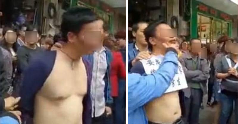 非禮國二女學生的狼師被到抓後,警察「壓著遊街」公然羞辱一路到警局!