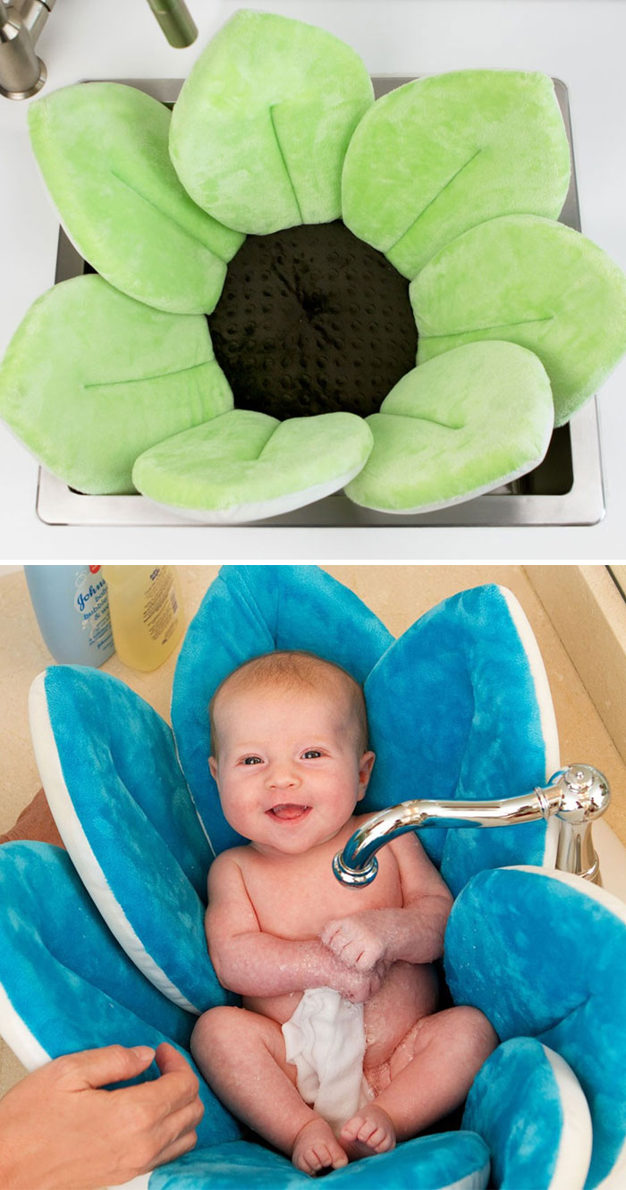 Bath Pillow That Saves Space And Makes It Easy To Bathe Your Baby