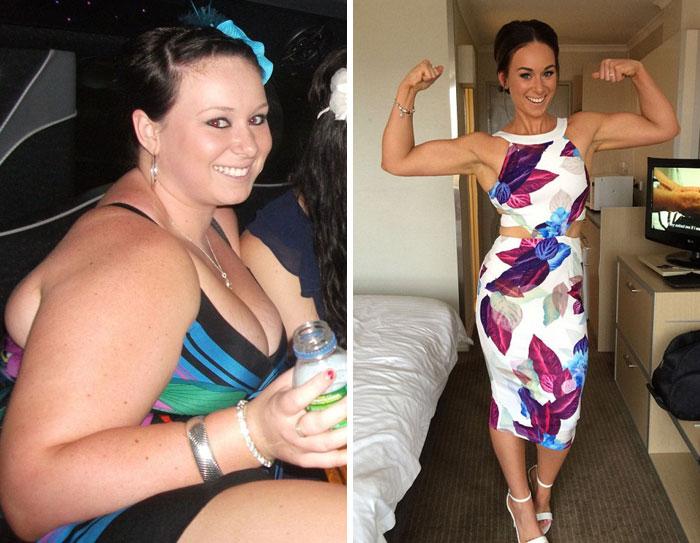 30張告訴你身邊的胖子都是潛力股「減肥前後奇蹟圖」。#1 超正點可當明星了!