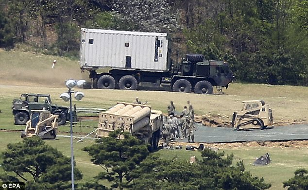 he U.S. military's THAAD anti-missile defence system (pictured) has reached initial operational capacity in South Korea, U.S. officials told Reuters, although they cautioned that it would not be fully operational for some months