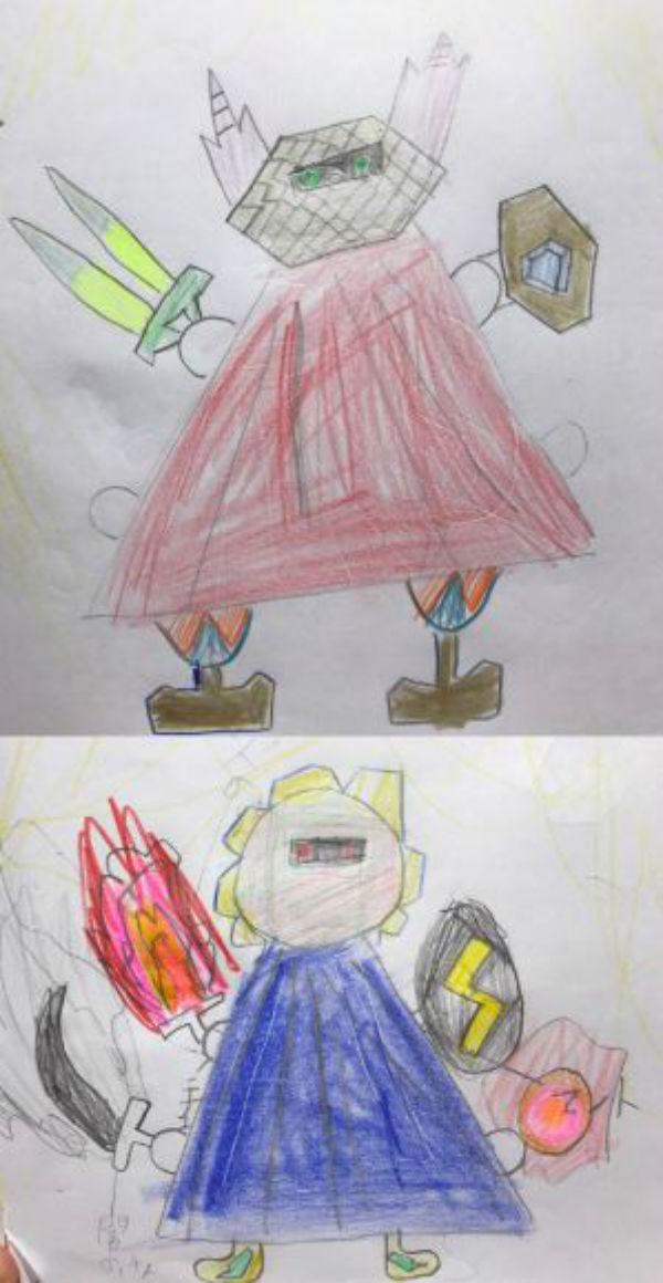 【PART 3】畫家老爸再次把兒子的塗鴉「大升級」,#1 比「環太平洋」的機器人還帥!(7款)