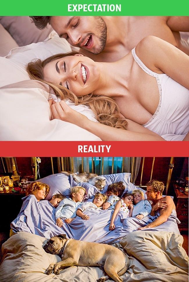 10張證明單身還是比較好的「結婚後理想VS現實」血淋淋對比照。#6 只有大人的刺激夜晚...