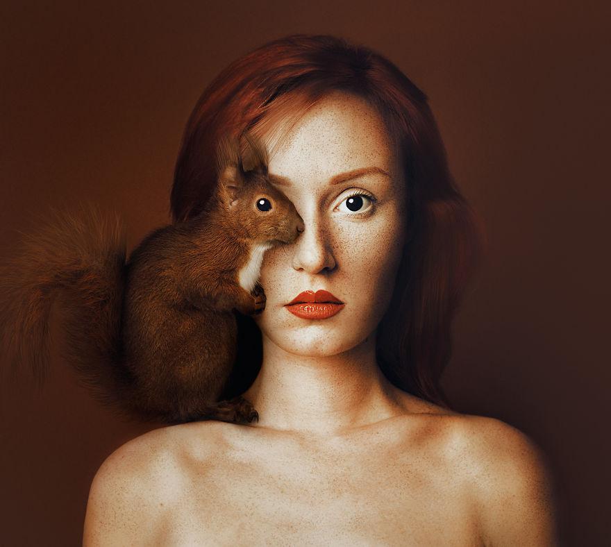 11張證明人類其實可以更美的「人類動物融合照」!#7 的河豚是在搞笑吧!