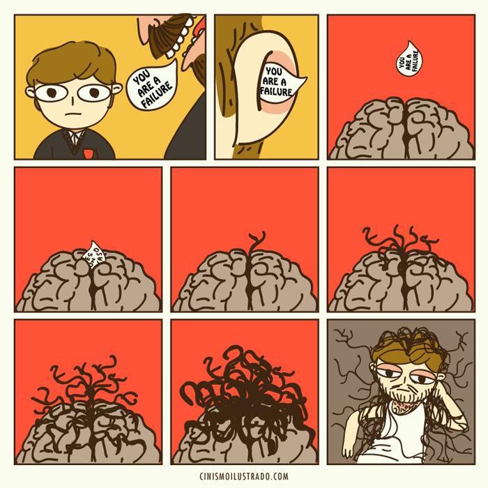 30張你會很怕面對的最中肯「現代黑暗真相漫畫」!#4 你被學校毀了...