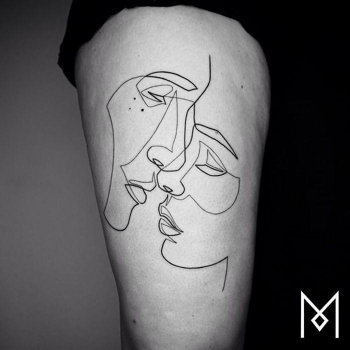 30個用簡單的「一筆劃」刺出可以放到美術館的超美刺青!