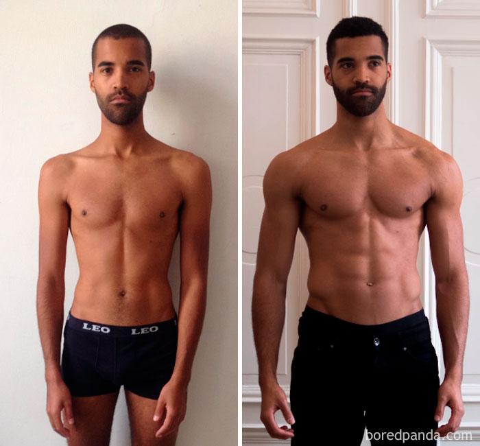 30張會讓你重新愛上自己身體的「健身前後身材比對照」!#8 才3個月怎麼可能!