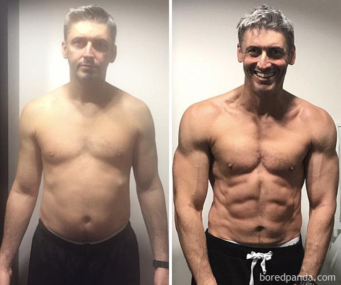 30張會讓你重新愛上自己身體的「健身前後身材比對照」