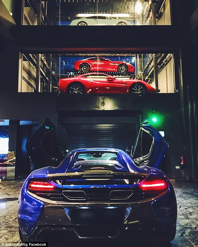 The showroom includes a raft of supercars from brands such as McLaren, Ferrari and Lamborghini