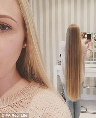 Having such a long mane can be a hazard, according to stay-at-home-mum Lianne, who sometimes catches it in the car door when she pops to the shops