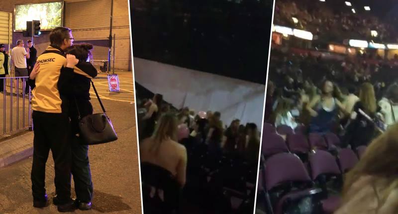演唱會恐攻「現場第一時間爆炸影片」流出!0:05爆炸聲響粉絲尖叫竄逃!