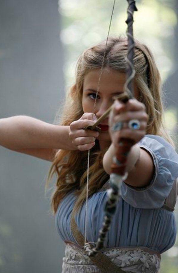 bow arrow archery girls 600 86 Pull and release with some archery girls (54 Photos)