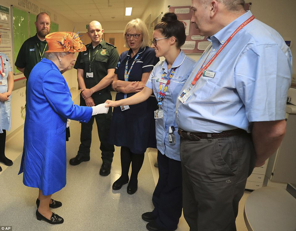The Queen praised the hospital staff and paramedics for 'coming together' in the aftermath of the deadly bombing
