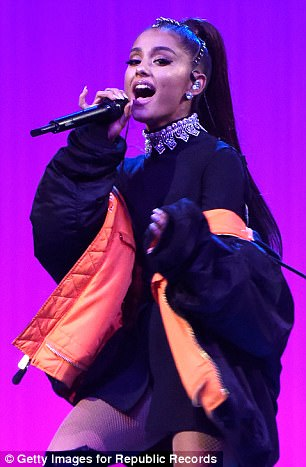Singer on stage at Madison Square Garden