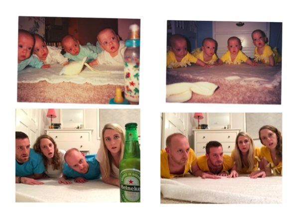 family photos then now same recreated funny 23 Then & now images prove that some people never change (40 Photos)
