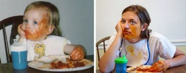 family photos then now same recreated funny 16 Then & now images prove that some people never change (40 Photos)