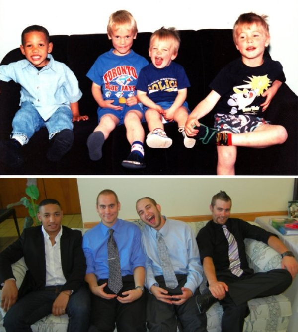 family photos then now same recreated funny 13 Then & now images prove that some people never change (40 Photos)