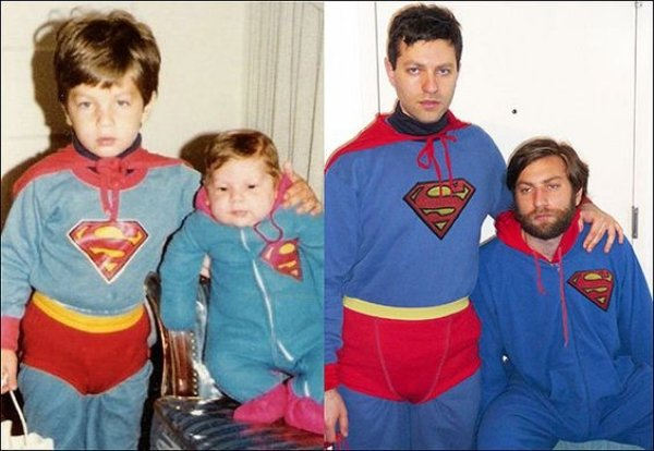 family photos then now same recreated funny 8 Then & now images prove that some people never change (40 Photos)