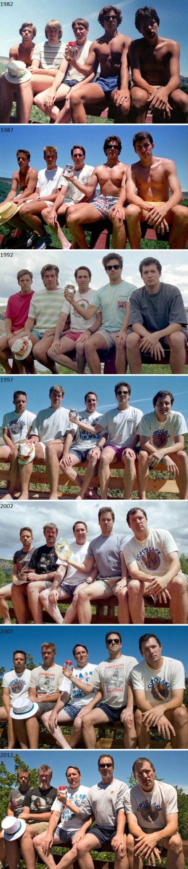 family photos then now same recreated funny 32 Then & now images prove that some people never change (40 Photos)