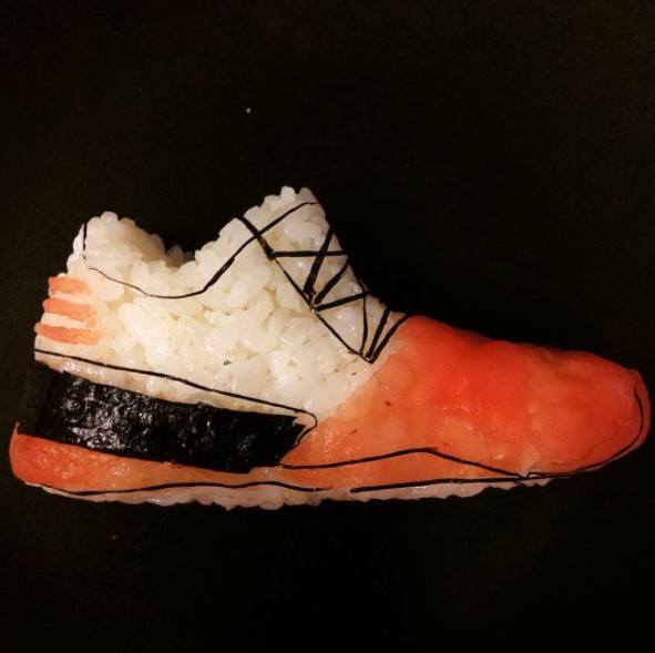 22張會讓球鞋迷看到「噴出口水瀑布」的超炫球鞋壽司!