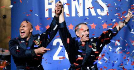 巨石強森宣布「參選2020年總統」副手是湯姆漢克斯!他:美國需要更好的總統!(影片)