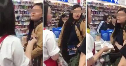 台女奧客日本刷卡不過直接請中國翻譯員「滾」,對方「華麗轉身」神打臉!她回應了!(影片)(女子最新聲明更新)