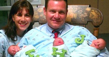 夫妻多年不孕決定「一次領養3胞胎」,一周後醫生說:「恭喜你們!」上帝超調皮!