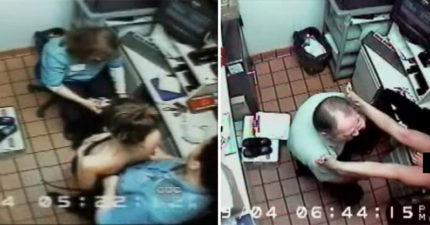 「警察」打電話到餐廳逼女員工「脫衣凌辱口愛」長達3小時!之後找58歲維修技工「接手處罰」才發現問題!(影片)