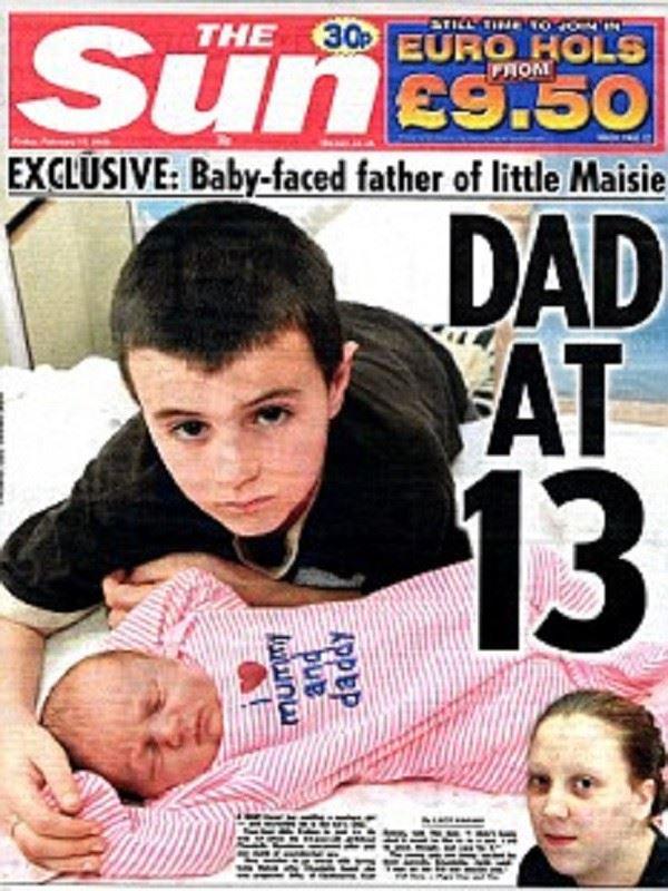 英國最年輕13歲爸爸為小孩放棄讀書 事後竟發現這其實是精心策劃的計謀!