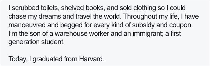 哈佛畢業生分享他的「成功經歷」 每天「偷東西」所有人卻都說他很偉大