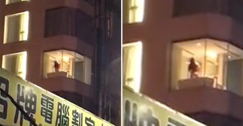 大樓玻璃窗驚見「辣妹在洗澡」全部看光光,眼尖網友:「怎麼閃燈了?」