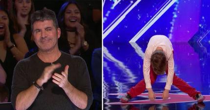 12歲天才小男孩上台開始跳「機械舞」,看到一半觀眾就發現不對勁了... (影片)