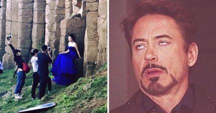 她坐在大石頭上拍婚紗遭酸「史上最醜新娘」!原來地點「在這裡」!網友:人比鬼恐怖