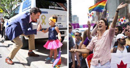 不要再分享「加拿大總理參加同志遊行」的照片!會讓全世界都妒忌死了!(9張)