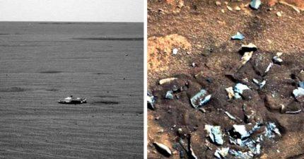 NASA火星探測車拍到「外星人的骨頭」,更發現「UFO高清照片」!