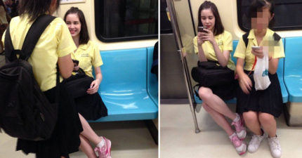 原本要在大安站下車,看到「女神級高中生」不小心搭到淡水!網友:「人家演過一部電視劇唷!」
