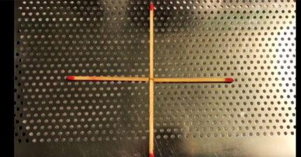 你有辦法「移動一根」就把4根火柴變成正方形嗎?