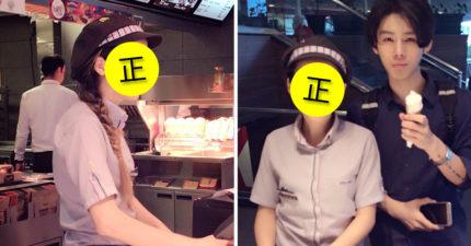 他連續吃麥當勞1個月,只為朝聖洋娃娃般「超正女店員」!