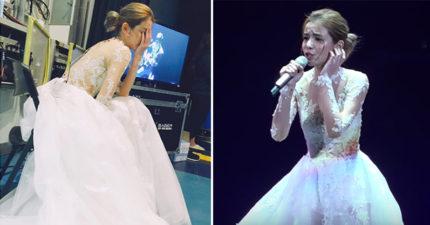 李毓芬演唱「嚴重落拍」發文向大家道歉,但專業網友聽出「真相」了!