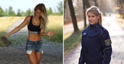 德國最辣女警「身上最強大的絕對不是槍」,全網爆紅光IG就有45萬粉絲!