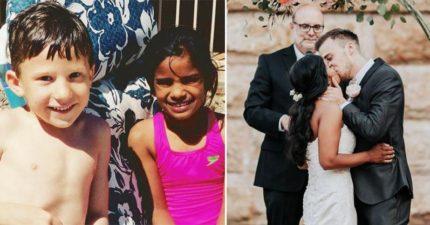 男孩幼稚園承諾「我以後一定會娶妳」 結果「失聯10年」20年後實現諾言!