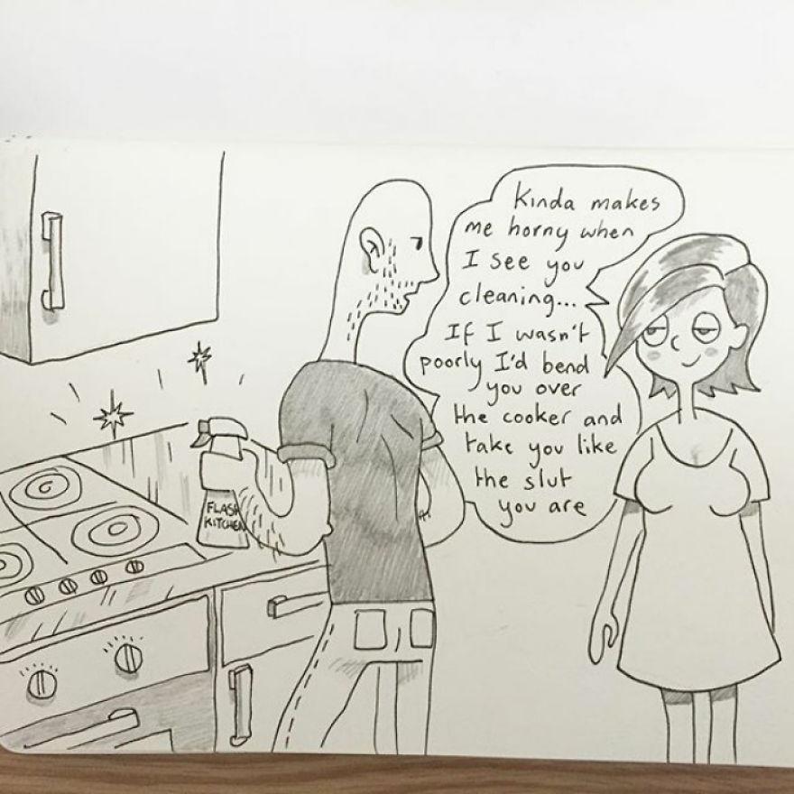 「我每天都畫家跟女友的點滴」。31張「看懂才證明你擁有真愛」的超另類情侶浪漫日常。
