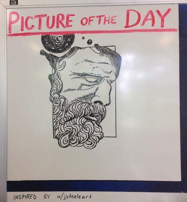 全世界最棒老師每天畫「每日一圖」連載漫畫,學生迫不及待想知道第3張結局!(56張)