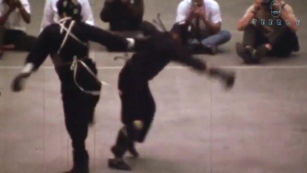 歷史上唯一「李小龍」真正打架自由博擊影片曝光,他的腳速快到連錄影機都拍不到!